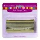 LorAnn Oils 5718-0000 Twist Ties, Gold 50 pack
