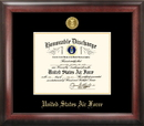Campus Images AFDG001 Air Force Discharge Frame Gold Medallion