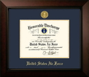 Campus Images AFDLG001 Patriot Frames Air Force 8.5x11 Discharge Legacy Frame with Gold Medallion