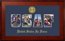 Campus Images AFSSHO001S Patriot Frames Air Force Collage Photo Honors Frame with Gold Medallion