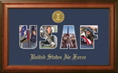 Campus Images AFSSW002S Patriot Frames Air Force Collage Photo Walnut Frame Gold Medallion