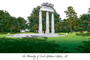 Campus Images AL991 University of South Alabama Campus Images Lithograph Print