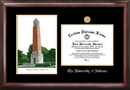 Campus Images AL993LGED University of Alabama - Tuscaloosa Gold Embossed Diploma Frame with Campus Images Lithograph
