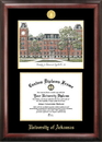Campus Images AR999LGED University of Arkansas Gold embossed diploma frame with Campus Images lithograph