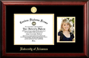 Campus Images AR999PGED-1185 University of Arkansas 11w x 8.5h Gold Embossed Diploma Frame with 5 x7 Portrait