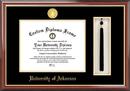 Campus Images AR999PMHGT University of Arkansas Tassel Box and Diploma Frame