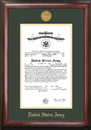 Campus Images ARCG001 Army Commission Frame Gold Medallion