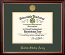 Campus Images ARDPT001 Patriot Frames Army 8.5x11  Discharge Petite Frame with Gold Medallion