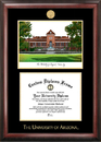 Campus Images AZ996LGED University of Arizona Gold embossed diploma frame with Campus Images lithograph