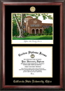 Campus Images CA919LGED California State University - Chico Gold embossed diploma frame with Campus Images lithograph