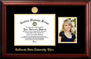 Campus Images CA919PGED-1185 California State University, Chico 11w x 8.5h Gold Embossed Diploma Frame with 5 x7 Portrait