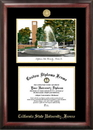 Campus Images CA920LGED Cal State Fresno Gold embossed diploma frame with Campus Images lithograph