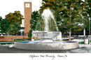 Campus Images CA920 Cal State Fresno Campus Images Lithograph Print