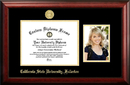 Campus Images CA921PGED-1185 California State University, Fullerton 11w x 8.5h Gold Embossed Diploma Frame with 5 x7 Portrait