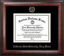 Campus Images CA923GED Cal State Long Beach Gold Embossed Diploma Frame