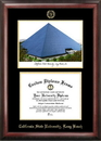 Campus Images CA923LGED Cal State Long Beach Gold embossed diploma frame with Campus Images lithograph