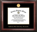 Campus Images CA925GED California State Sacramento University Gold Embossed Diploma Frame