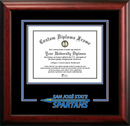 Campus Images CA929SD San Jose State University Spirit Diploma Frame