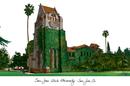 Campus Images CA929 San Jose State University Campus Images Lithograph Print
