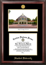 Campus Images CA932LGED Stanford University Gold embossed diploma frame with Campus Images lithograph