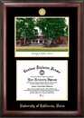 Campus Images CA942LGED University of California - Davis Gold embossed diploma frame with Campus Images lithograph