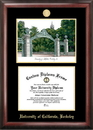 Campus Images CA945LGED University of California - Berkeley Gold embossed diploma frame with Campus Images lithograph