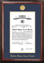 Campus Images CGC001 Coast Guard Commission Frame Gold Medallion