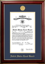 Campus Images CGCCL001 Patriot Frames Coast Guard 10x14 Certificate Classic Mahogany Frame with Gold Medallion