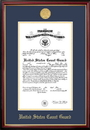 Campus Images CGCPT001 Patriot Frames Coast Guard 10x14 Certificate Petite Frame with Gold Medallion