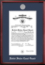 Campus Images CGCPT002 Patriot Frames Coast Guard 10x14 Certificate Petite Frame with Silver Medallion