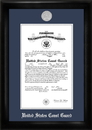 Campus Images CGCS002 Coast Guard Commission Frame Silver Medallion