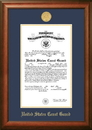 Campus Images CGCSW002 Patriot Frames Coast Guard 10x14 Certificate Walnut Frame Gold  Medallion