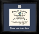 Campus Images CGDS002 Coast Guard Discharge Frame Silver Medallion
