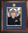 Campus Images CGPG001 Coast Guard Portrait Frame Gold Medallion