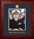 Campus Images CGPHO001 Patriot Frames Coast Guard 8x10 Portrait Honors Frame with Gold Medallion