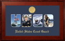 Campus Images CGSSHO001S Patriot Frames Coast Guard Collage Photo Honors Frame with Gold Medallion