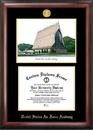 Campus Images CO994LGED United States Air Force Academy Gold embossed diploma frame with Campus Images lithograph