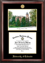 Campus Images CO995LGED University of Colorado - Boulder Gold embossed diploma frame with Campus Images lithograph