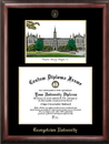 Campus Images DC996LGED Georgetown University Gold embossed diploma frame with Campus Images lithograph