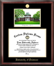 Campus Images DE999LGED University of Delaware Gold embossed diploma frame with Campus Images lithograph