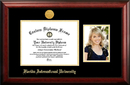 Campus Images FL984PGED-1185 Florida International University 11w x 8.5h Gold Embossed Diploma Frame with 5 x7 Portrait