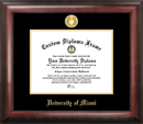Campus Images FL988GED University of Miami Gold Embossed Diploma Frame
