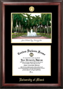 Campus Images FL988LGED University of Miami Gold embossed diploma frame with Campus Images lithograph