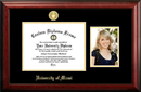 Campus Images FL988PGED-1185 University of Miami 11w x 8.5h Gold Embossed Diploma Frame with 5 x7 Portrait