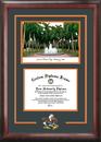 Campus Images FL988SG University of Miami Spirit Graduate Frame with Campus Image