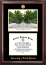 Campus Images FL989LGED University of South Florida Gold embossed diploma frame with Campus Images lithograph