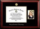 Campus Images GA974PGED-1714 Georgia Institute of Technology 17w x 14h Gold Embossed Diploma Frame with 5 x7 Portrait