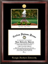 Campus Images GA975LGED Georgia Southern Gold embossed diploma frame with Campus Images lithograph