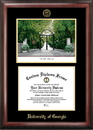 Campus Images GA987LGED University of Georgia Gold embossed diploma frame with Campus Images lithograph