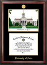 Campus Images IA995LGED University of Iowa Gold embossed diploma frame with Campus Images lithograph
